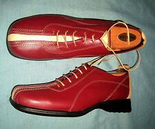 EVANI Spanish Designer Shoes Women's EU Size 39 (US 7.5) Red & Tan Leather NEW