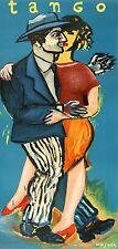 Original Vintage Poster Tango by Mosner 1986 Argentina Dance