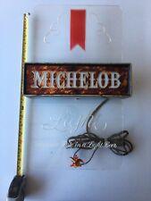 Vintage Michelob Light Up Beer Sign Plastic 11 x 18