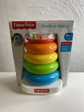 Nip Fisher-Price Rock-a-Stack Classic with 5 Colorful Rings Development Toy