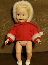 """Vintage Small Plastic Baby Doll 7.5"""" Made In Hong Kong"""