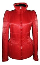 CHANEL ~ ICONIC CHANEL 06A Coral Padded Jacket ~ size: M ; 38  * AUTHENTIC