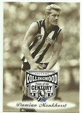 AFL 1997 COLLINGWOOD #30 DAMIAN MONKHORST SPICERS TEAM OF THE CENTURY CARD