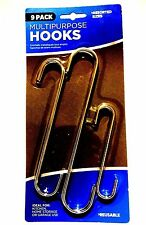 Set Of 9pc Chrome S Hooks - Kitchen Storage Garage Hanging Stainless Steel