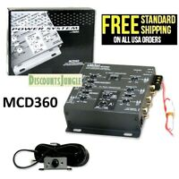 CLARION MCD360 2/3 WAY 6-CHANNEL CAR ELECTRONIC CROSSOVER + Subwoofer Equalizer