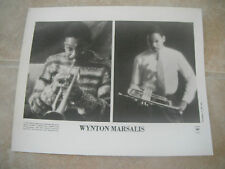 Wynton Marsalis Trumpet B&W 8x10 Promo Photo Picture Original