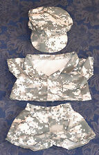 "TEDDY BEAR ARMY DIGITAL CAMO w/CAP Outfit CLOTHES Fit 14""-18"" Build-a-bear NEW"