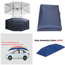 Durable Navy Blue Replaceable Umbrella Cloth Sun Shade 4*2.1M For Car Tent Cover