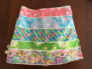 Lilly Pulitzer Ocean Sea Star Fish Multi Lagoony Skooter Skirt Skort Girls 10