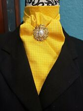 Stock Tie Bright Yellow Diamonds Contour (Pin is not included)