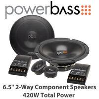 """Powerbass S-60C - 6.5"""" 2-Way Component Door Speakers 420W Total Power BNIB"""