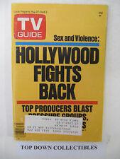 TV Guide  Aug. 27-Sept. 2  1977  Hollywood Fights Back: Sex & Violence