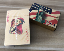 2 Decks The Great USA Gold Foil Waterproof Plastic Playing Poker Deck Game Cards