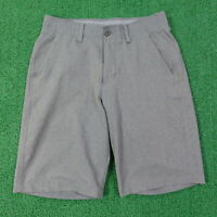UNDER ARMOUR HEAT GEAR LOOSE FLAT FRONT GRAY GOLF SHORTS MENS SIZE 30