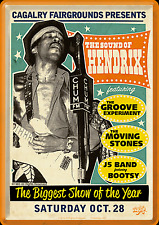 Nostalgic Art Metal Postcard 10x14 cm the sound of Hendrix the biggest show #