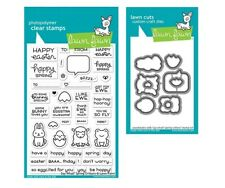 Lawn Fawn SAY WHAT? Spring Critters Clear Stamp and Die Set LF2228 & LF2229