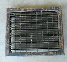 15 1/2 x 13 1/2 Metal Louvered Dampered  Floor Heat Register Vent Vintage  A