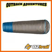 OZTRAIL TRAVELSMART 700 DOWN HOODED SLEEPING BAG - CAMP CAMPING BEDDING - BLUE