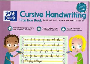 Oxford Cursive Handwriting Practice Book Learn To Write Left Right KS2 New Versi