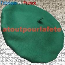 Beret basque Vert,Conscrit,Amélie poulain-Béret Francais-Supporters,Déguisement,