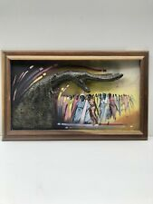 Contemporary African Art Painting 3D on Board Signed Victary 98