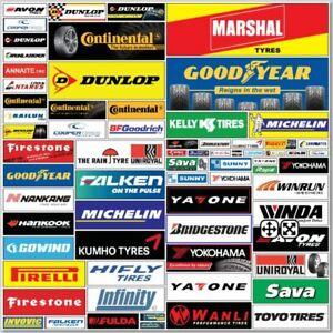 Tyre Garage Banners 6x2 Michelin Bridgestone Continental Goodyear Dunlop Pirelli