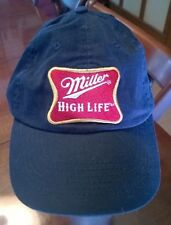 Miller High Life Black Adjustable Baseball Hat The Champagne Of Beers Milwaukee