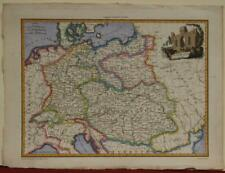 GERMANY & CENTRAL EUROPE 1812 MALTE-BRUN ANTIQUE ORIGINAL COPPER ENGRAVED MAP