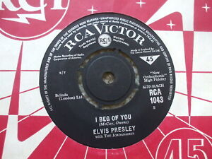 Elvis Presley - Don't / I Beg Of You - RCA 1043 Rare 1964 reissue