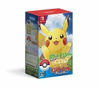 USED Nintendo Switch Pokemon Lets Go! Pikachu Monster Ball Plus Set 40253 JAPAN