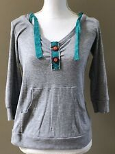 Delias Gray Hooded Sweatshirt Junior's Size Large ~ Cute!