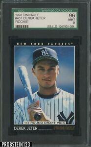 1993 Pinnacle #457 Derek Jeter Yankees RC Rookie HOF SGC 96 MINT 9