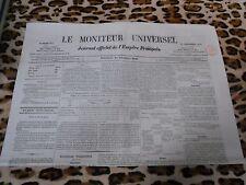 LE MONITEUR UNIVERSEL, journal officiel de l'empire français, n° 325, 21/11/1858
