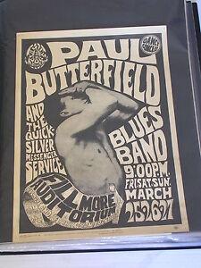 PAUL BUTTERFEILD & QUICKSILVER CONCERT POSTER FD003 by WES WILSON