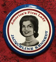 """Collectible Pinback Pin Button Jaqueline Kennedy America's First Lady 1.5""""d"""