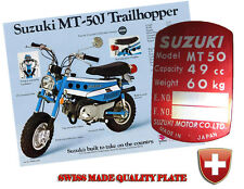 SUZUKI A50S AS50 50cc 49cc VIN PLATE DATA PLATE TYPENSHILD ALU PLATE TAG