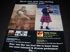 JONNY LANG & ASHLEY MACISAAC ...string section... 1997 PROMO POSTER AD mint con