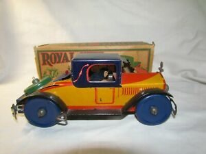 VINTAGE PRE WAR MARX ROYAL COUPE AUTOMOBILE TOY METAL WIND UP CAR TOY 9""