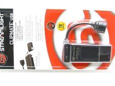 STREAMLIGHT Black CLIPMATE Clip On Rechargeable USB LED Cap Light Flashlight!