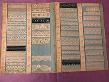 Superbes planches catalogue de 88 échantillons de dentelle fine ancienne 11837