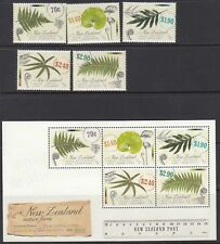 NEW ZEALAND :2013 Native Ferns  set+Min Sheet SG3429-33 53+MS3434 MNH