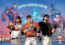 SF Giants Stan Lee Silver Slugger Squad  Posey, Crawford, Bumgarner Poster Card