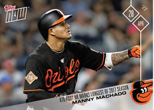 MLB TOPPS NOW CARD #90: 470-FOOT HR MARKS LONGEST OF 2017 SEASON - MANNY MACHADO