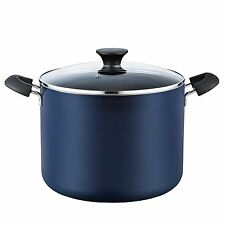 Nonstick Large Stockpot with Lid Stovetop Kitchen Cooking Soup Stew Pot Blue New