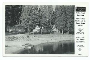 RPPC ^^^ CHAMBERS LODGE  ^^^ Lake Tahoe Ca. ^^^  1951