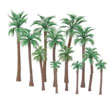 12pcs Layout Model Train Artificial Palm Trees Scale HO Beach Street Diorama