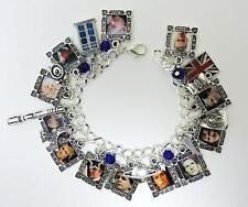 Twelve Doctors charm bracelet unique science fiction Dr Who loaded with charms