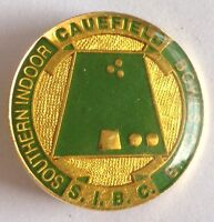 Caulfield Southern Indoor Bowling Club Badge Rare Vintage (M8)