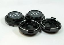 4pcs 68mm Enkei Black Carbon Rim Caps Hubcaps Wheel Center Caps Badges Emblems