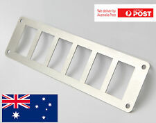 6 Rocker Switch Panel Stainless Steel. Fits ARB, Carling, Narva